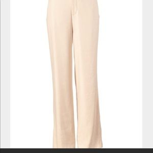 CAbi Everly linen cream color pants. Size M